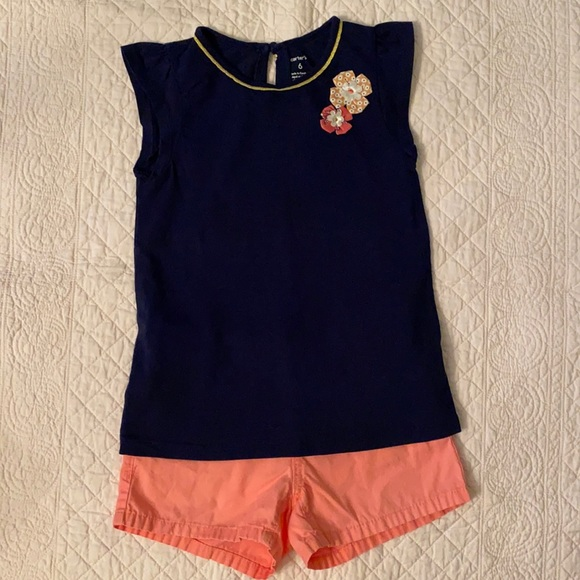Carter's & Old Navy Top & Shorts Outfit {Lot of 2}